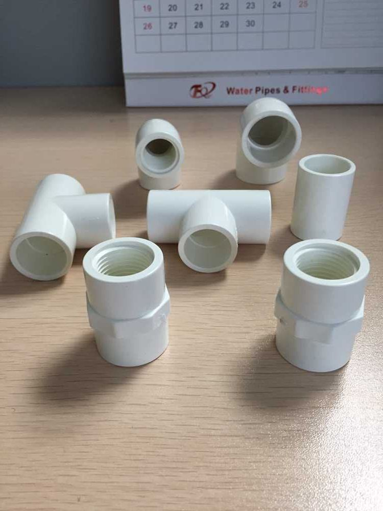White Tee / PVC Sch40 Pipe Fittings for Water Supply