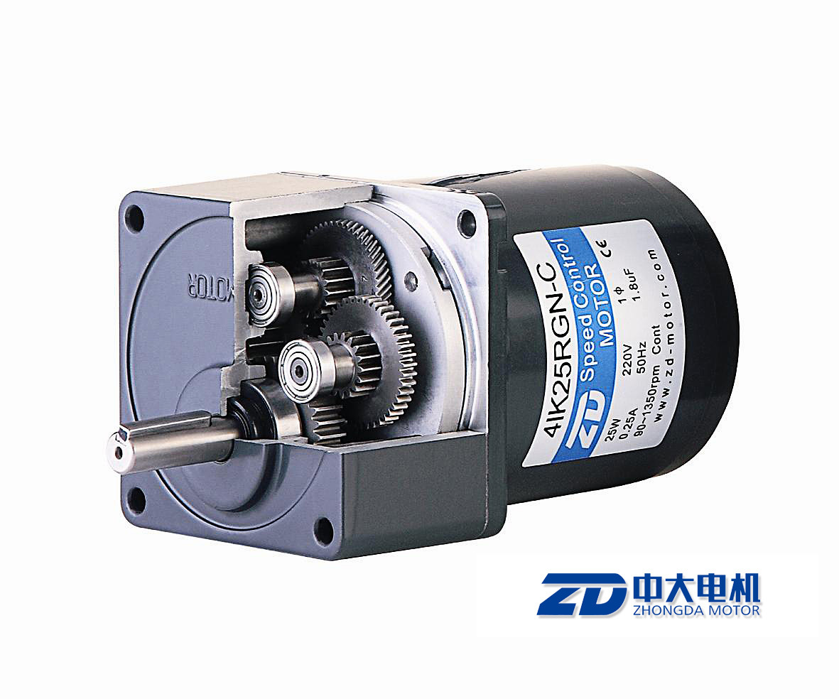 China 80mm ac speed control gear motor 120v 25w 4ik25rgn for Speed control of ac motor