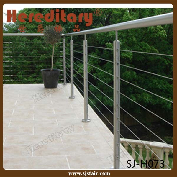Balcony Railing for Outdoor Steps Stainless Steel Cable Wire Railings (SJ-H073)