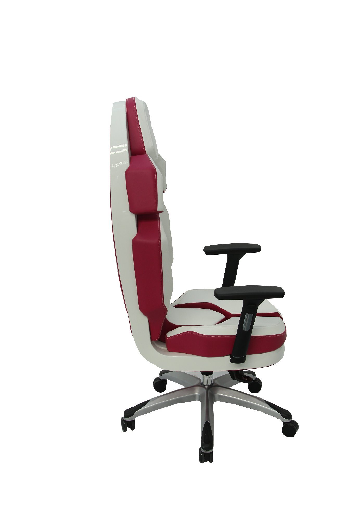 PU Office Chair Luxury Fashion Rose Red