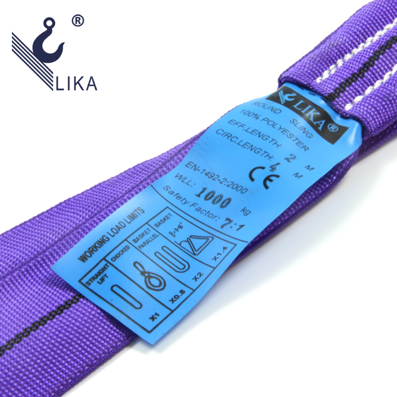 Ce GS Certificated 100% Polyester Endless Round Sling
