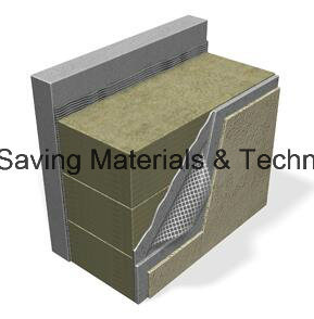Thin Rendering External Wall Thermal Insulation Rockwool Board