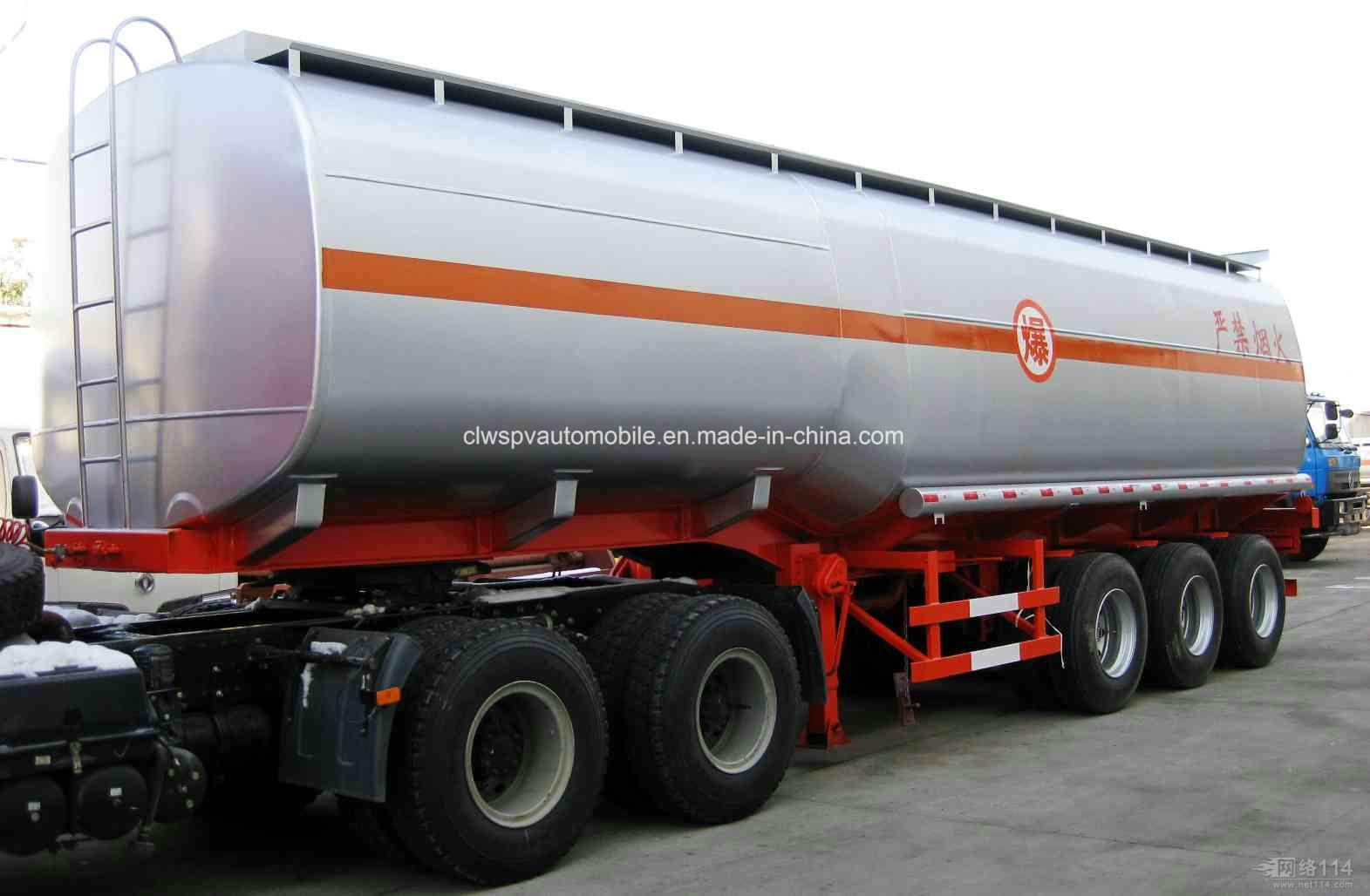 Heavy Duty 50000 Litres Fuel Tanker Trailer 3 Axles Steel Oil Tanker