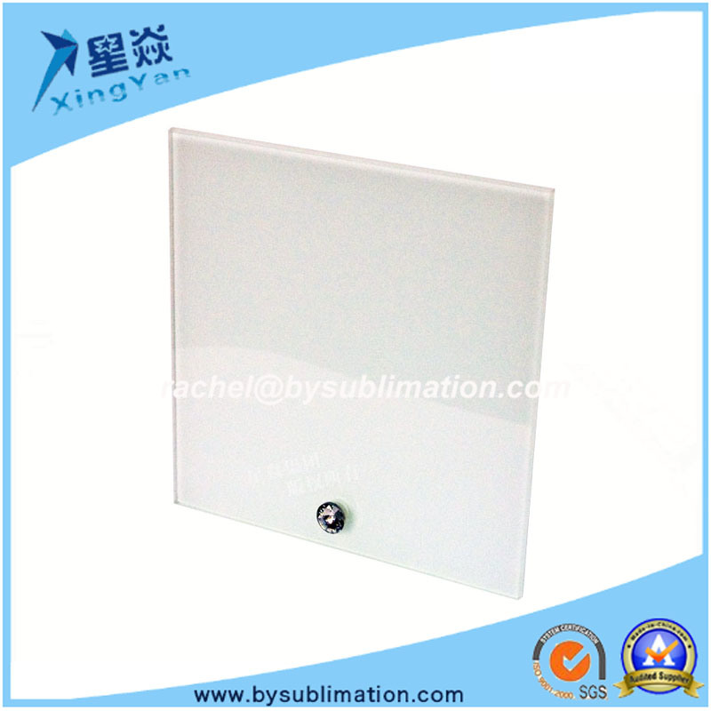 Square Glass Photo Frame with Stand