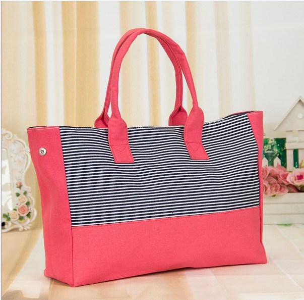 Fashion Lady Leisure Shopping Canvas Bag Bt2013-4- (1)