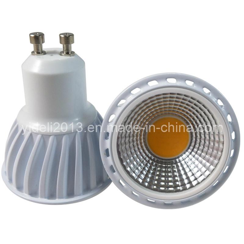 New Dimmable High Power COB LED Spotlight Bulb GU10 5W