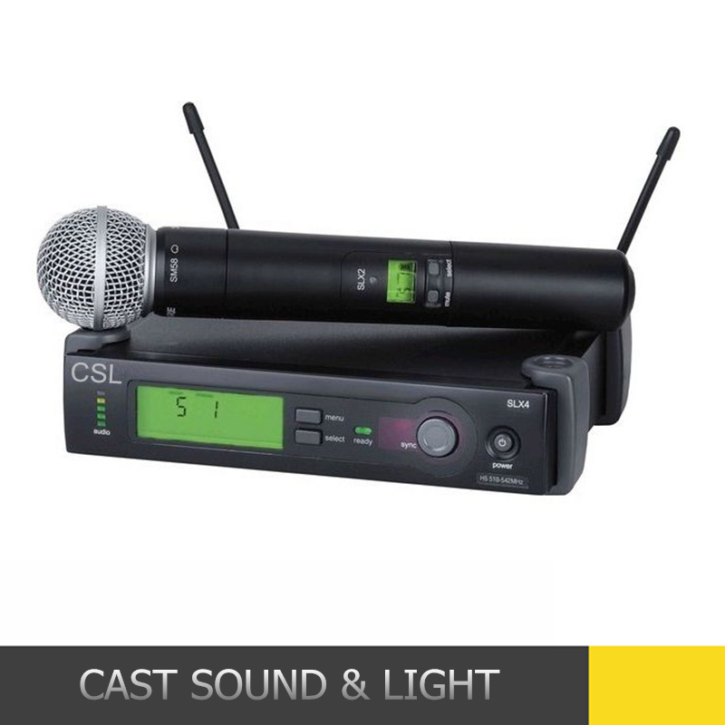 Slx24/Beta58 Handheld Professional UHF Wireless Microphone