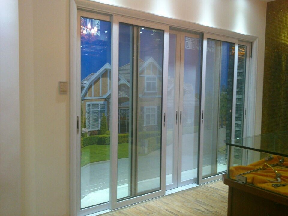 Double Glazing Aluminum Sliding Patio Door With Security Door