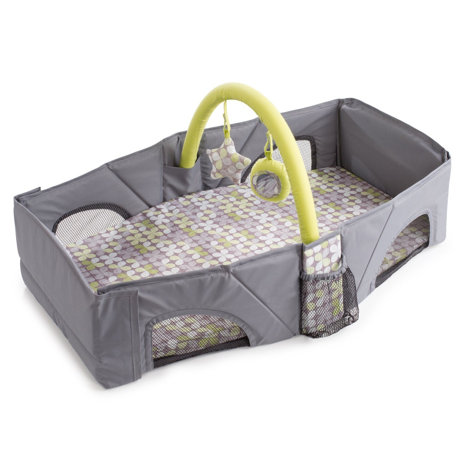 2 In1 Portable Crib Baby Bag, Collapsible Variable Package, Multifunctional Baby Travel Bag&Bed Folding Bed Anti-Mosquito Insulation Game Handle Shoulder