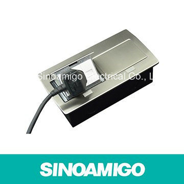 High Quality Pop-up Copper Floor Outlet Socket Stainless Steel Floor Boxes with RJ45