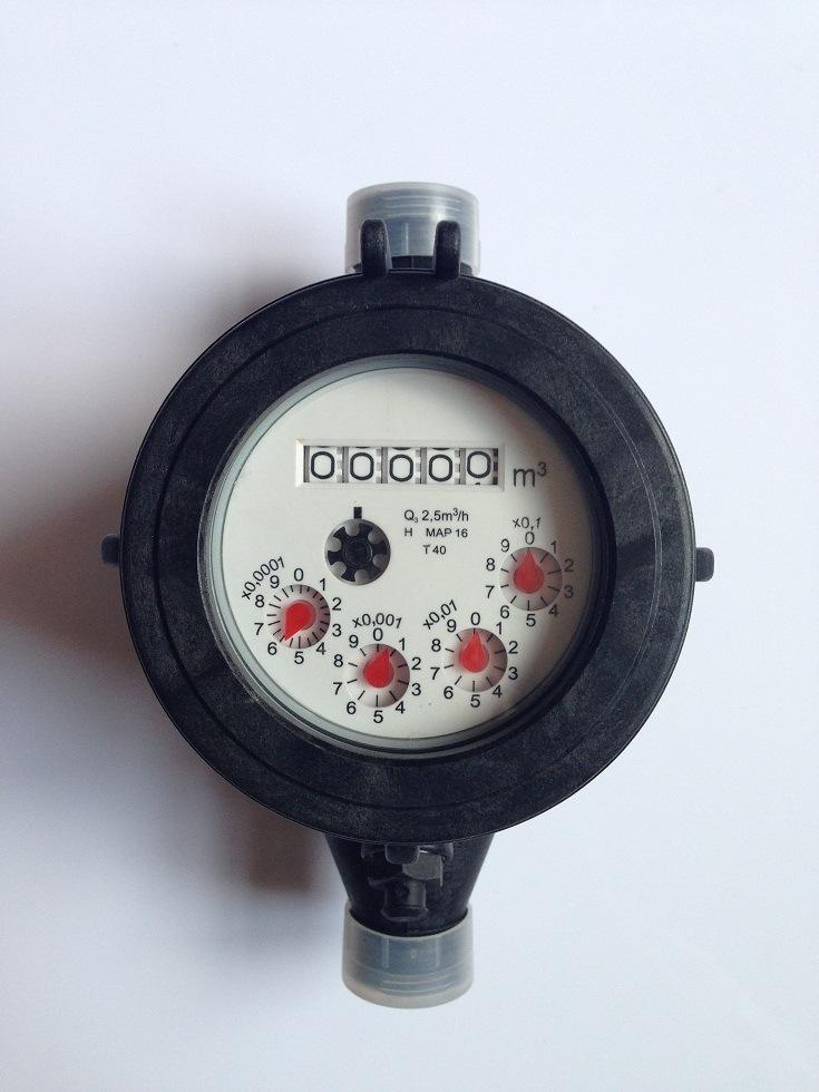 Multi Jet Dry Type Plastic Body Water Meter