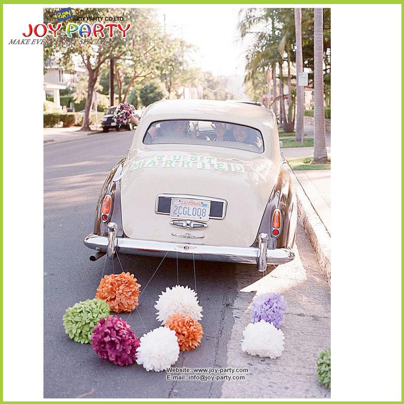 Tissue Paper POM Poms for Wedding Car Decoration