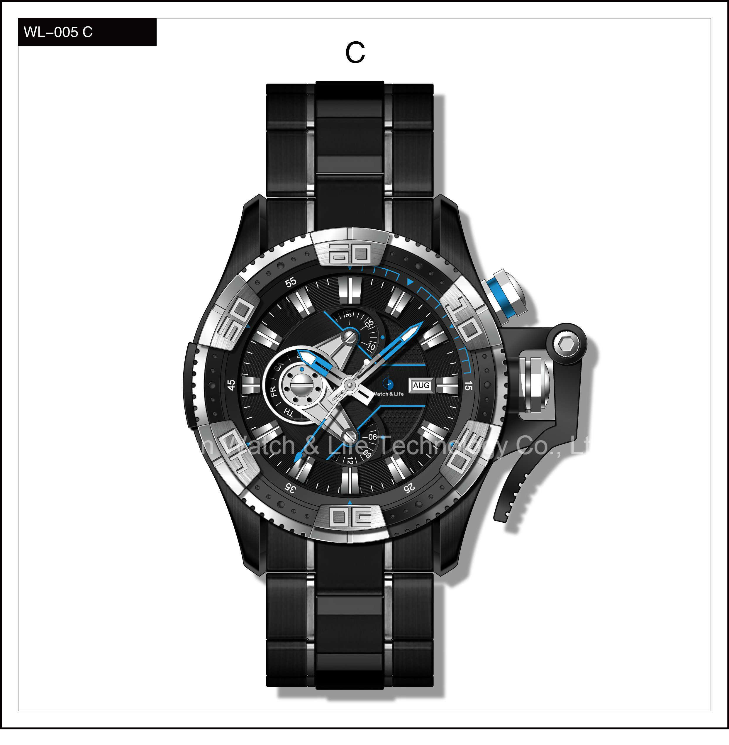 Mechanical Speical Fashion Sport Swiss Watch Stainless Steel Men′s Wrist Watch