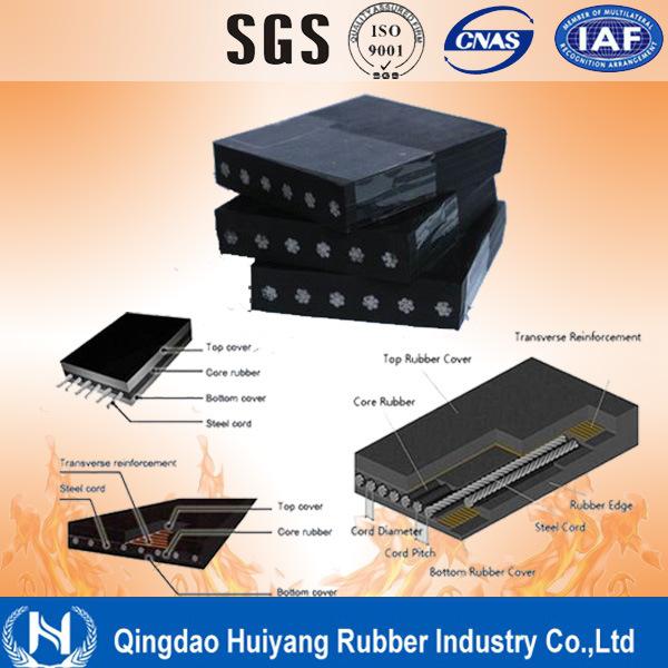 Heat Resistant St1250 Conveyor Belt, Heat Steel Cord Conveyor Belt Supplier