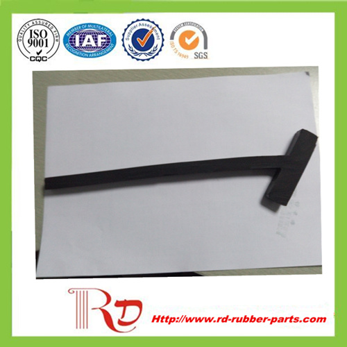 T Type Skirting Board Rubber / Rubber Seal Sheet for Conveyor Sealing System