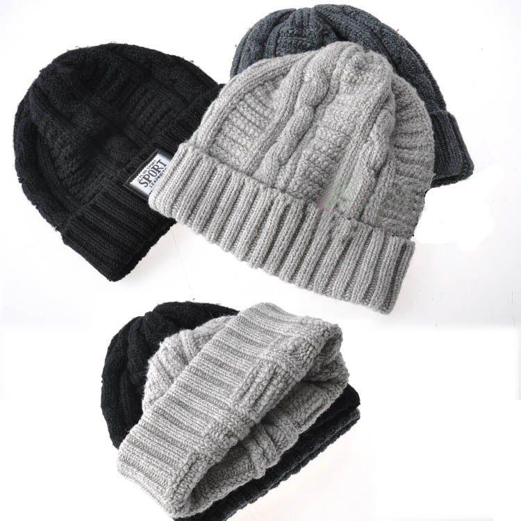 Fold Beanies Hat Knitting Cap