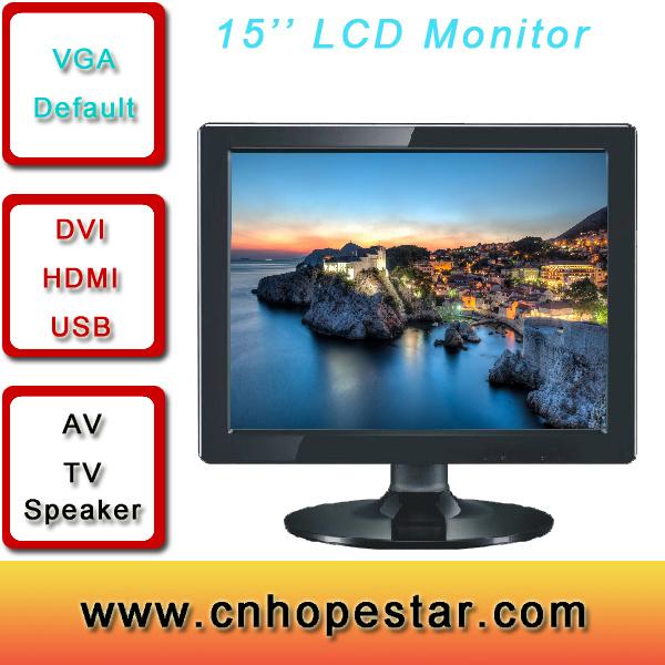 Desktop Computer 17 Inch LCD Monitor with VGA HDMI AV USB