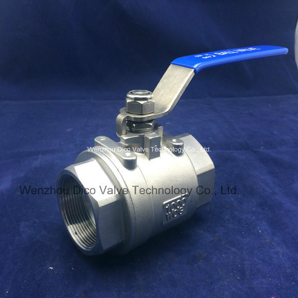 Stainless Steel 2PC Thread Ball Valve with Ce Certificate