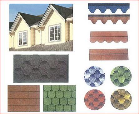 Multi-Color Fiberglass Asphalt Shingles Roof Tile Bitumen Tile