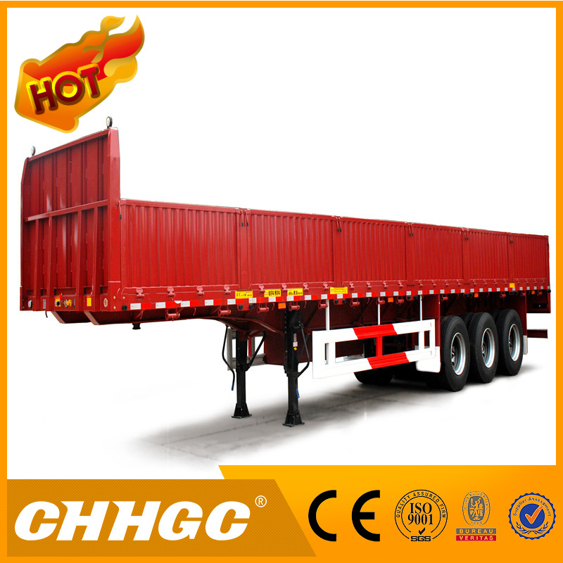 Chhgc 3 Axles Fence Semi Trailer with Side Wall 40t-80t Capacity