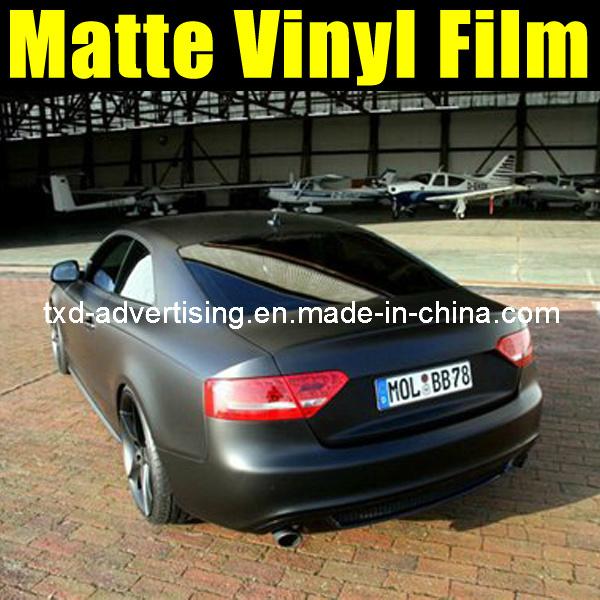China Self Adhesive Matt Black Car Wrap Color Foil Photos