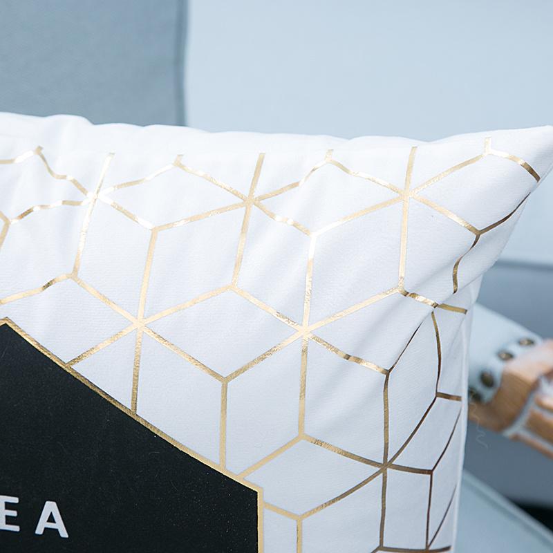 Foil/Gold&Silver Print Decorative Cushion/Pillow (MX-31)