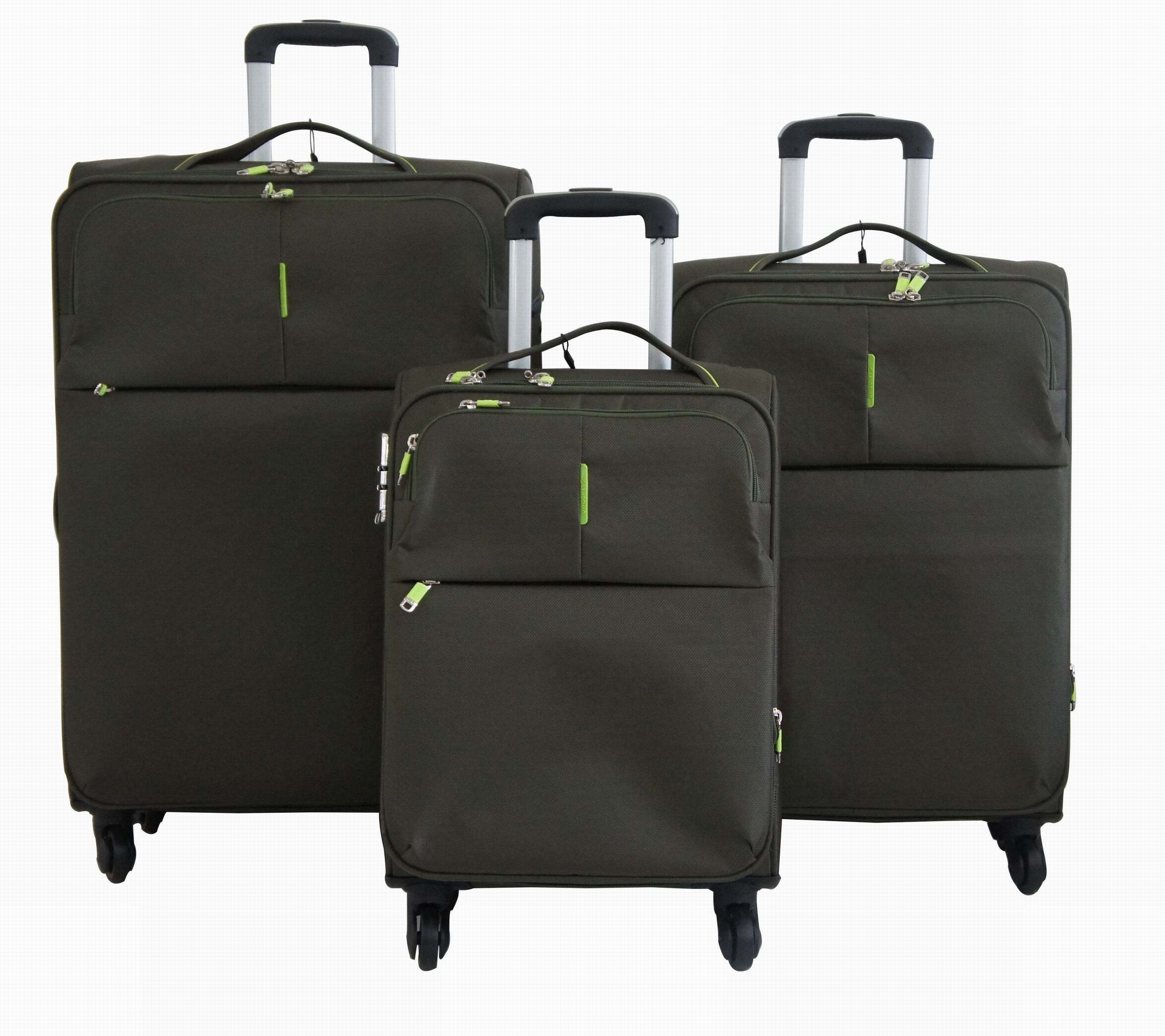 Nylon Soft Trolley Case Luggage Bag Suitcase 1jb011
