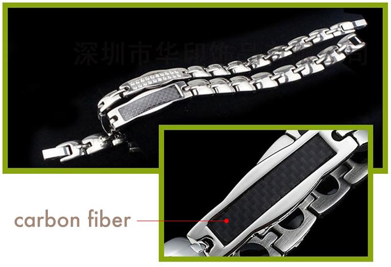 Health Care Carbon Fiber Titanium Energy Magnetic Bracelet