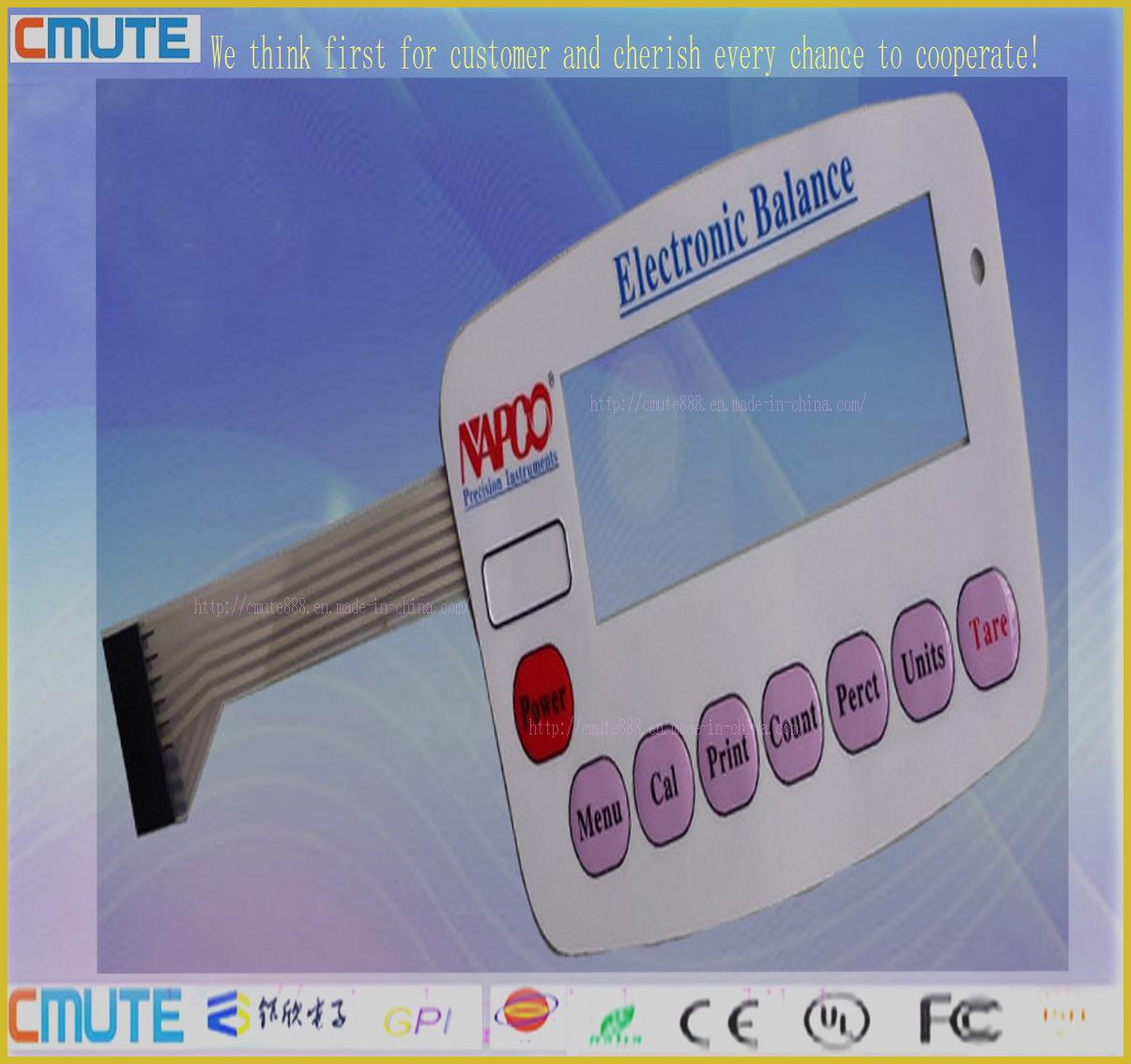 Top Quality High Glossy Pet Membrane Switch