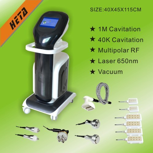 8 Inch Touch Screen 6 650nm Diode Laser Slim Pads 1 Vacuum Rooler Machine 40k Cavitation F-9005CD