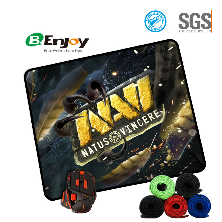 Stitched Edge Rubber Gaming Mouse Pad with Customer Design Printed