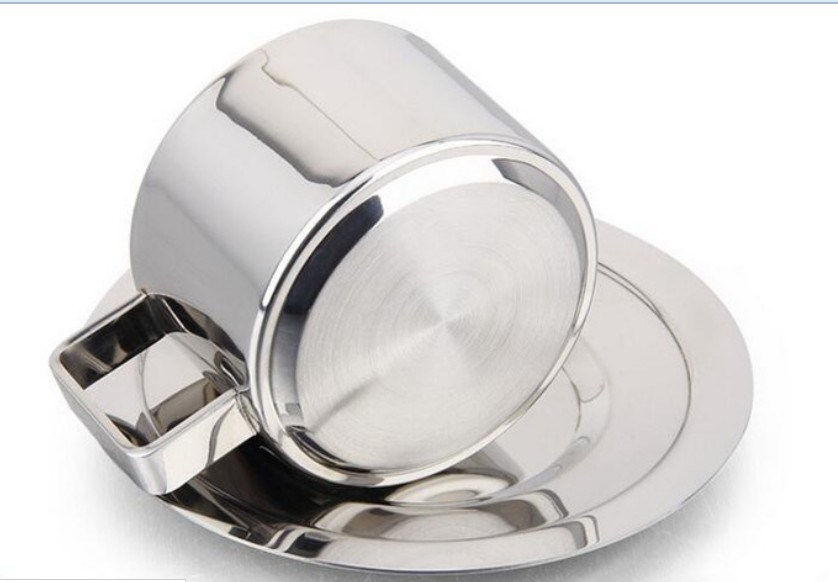 180ml Three-Piece 304 (18-8) Stainless Steel Coffee Cup