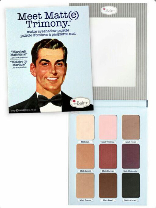 9 Colors Matte Eyeshadow The Balm Trimony Eye Shadow Palette