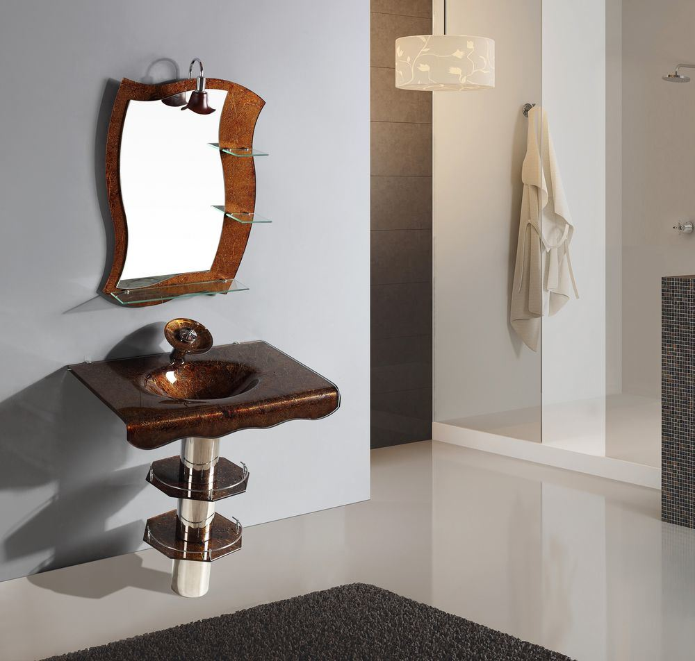 New model bathroom glass basin jd 001 china bathroom for New model bathroom