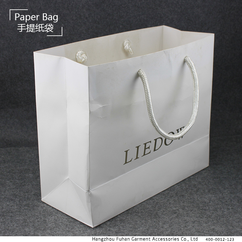 Customized Paper Shopping Bag with Recycled Paper