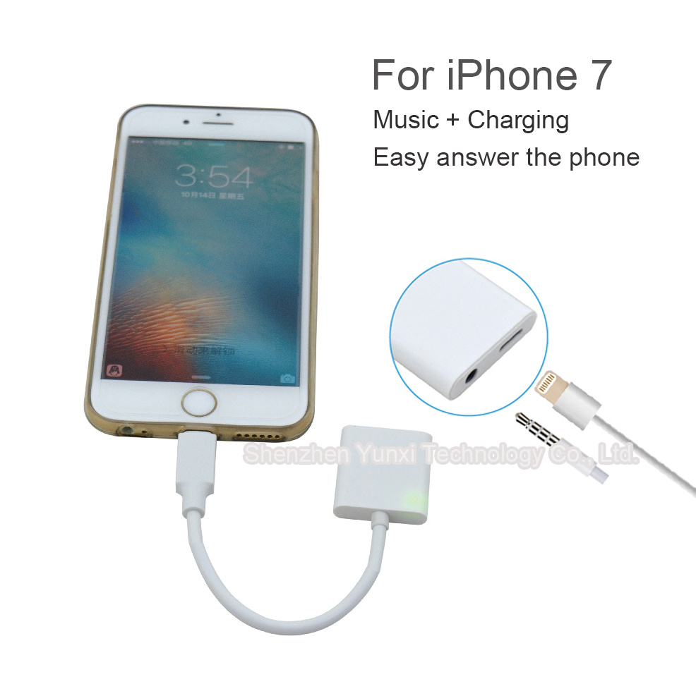 I7 Lightning Adapter Support Headphone Answer, Cable Control, 5V 1A Output