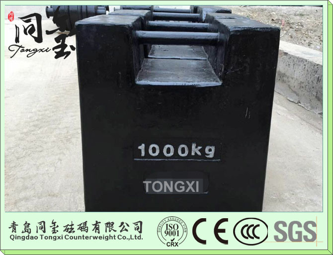 OIML M1 Cast Iron 1000kg Test Weight for Crane for Weighting Bridge Calibration Weight