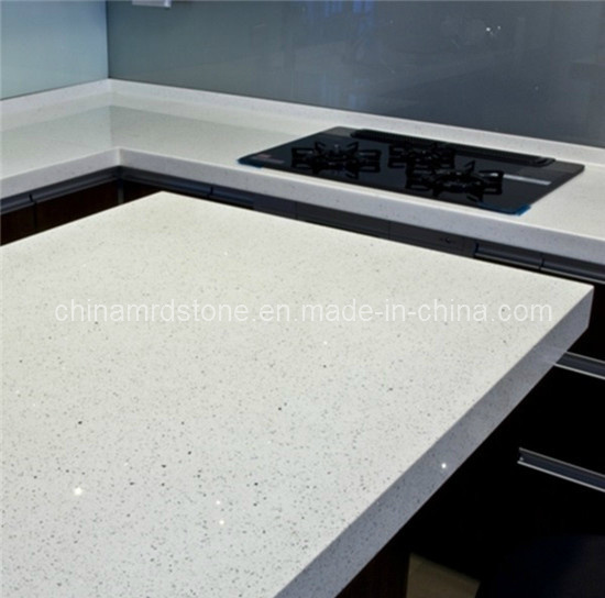 Engineered White Artificial Quartz Stone for Tile or Countertop