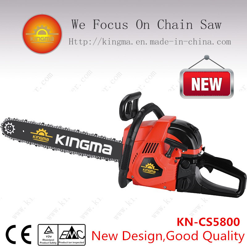 """58cc Gas Chain Saw with 22"""" Guide Bar and Chain (KN-CS5800)"""