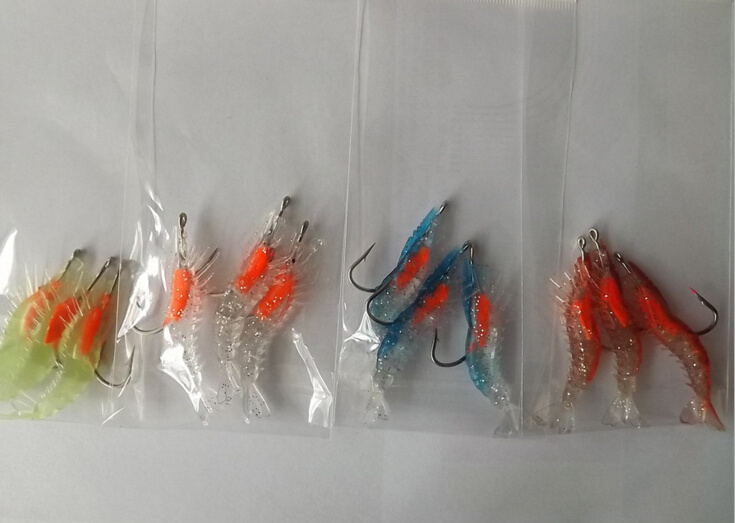 6cm 3G Soft Shrimp Lure Soft Fishing Lure Shrimp Bait Fishing Tackle