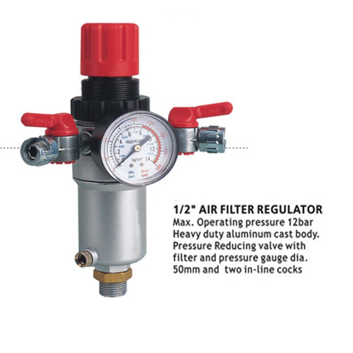 Air Compressor Filter with Regulator Pressure