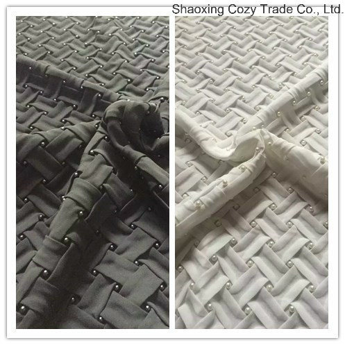 Hot New Design Braided Crossed Chiffon Belt Fabric with Bead for Fashion Garment, Cushion etc