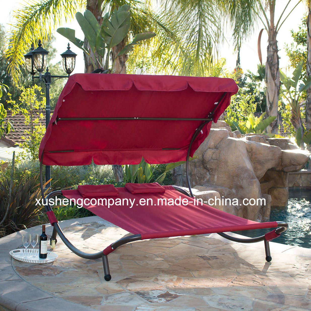 Patio Garden Swing Chair/Bed with Sunshade