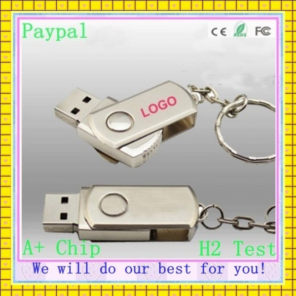 Custom Swivel USB Pen Drive 4GB 16GB 1GB USB Flash Drive (GC-001)