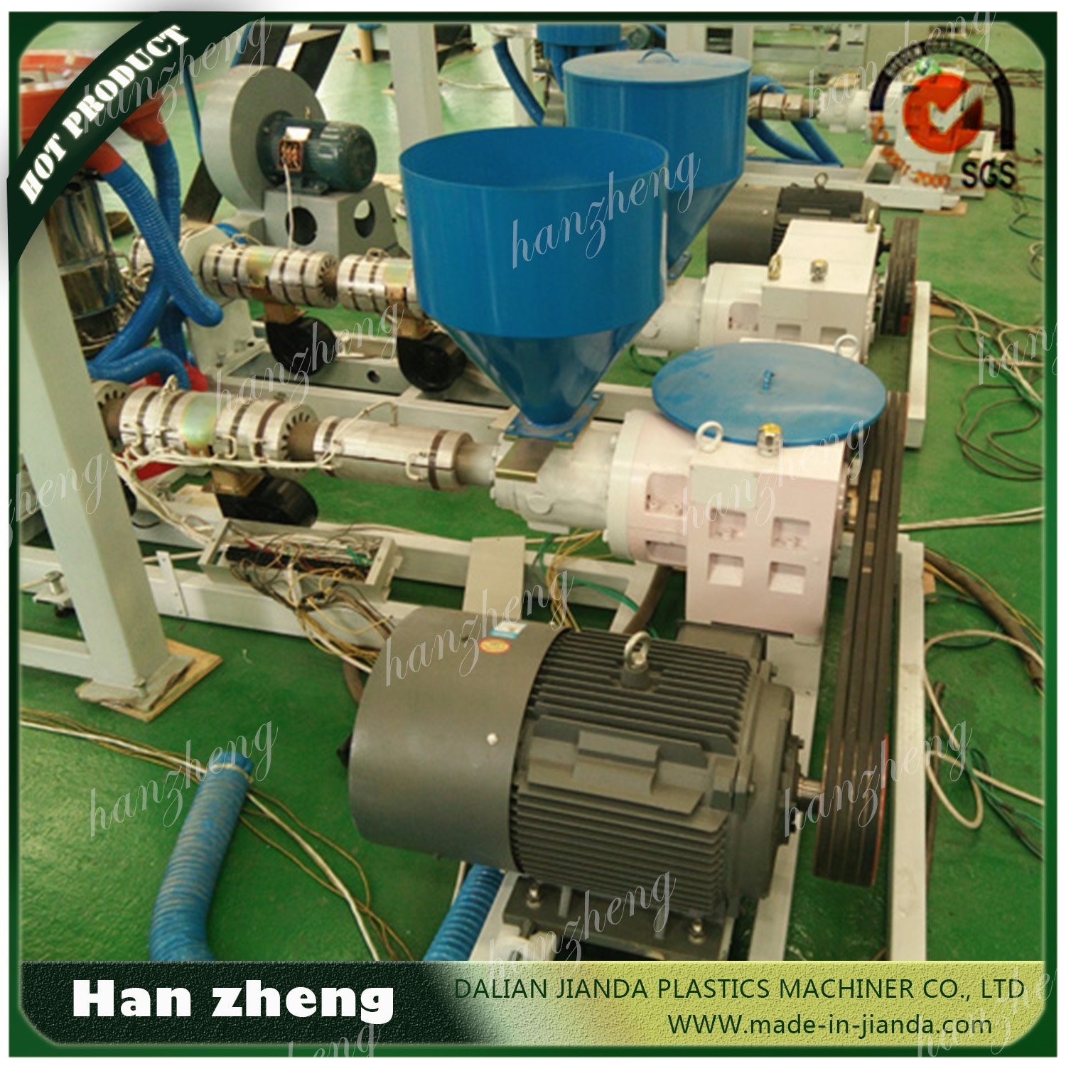 ABA HDPE LDPE Three Layer Co-Extrusion Plastic Film Extruder Sjm-Z45-2-1100