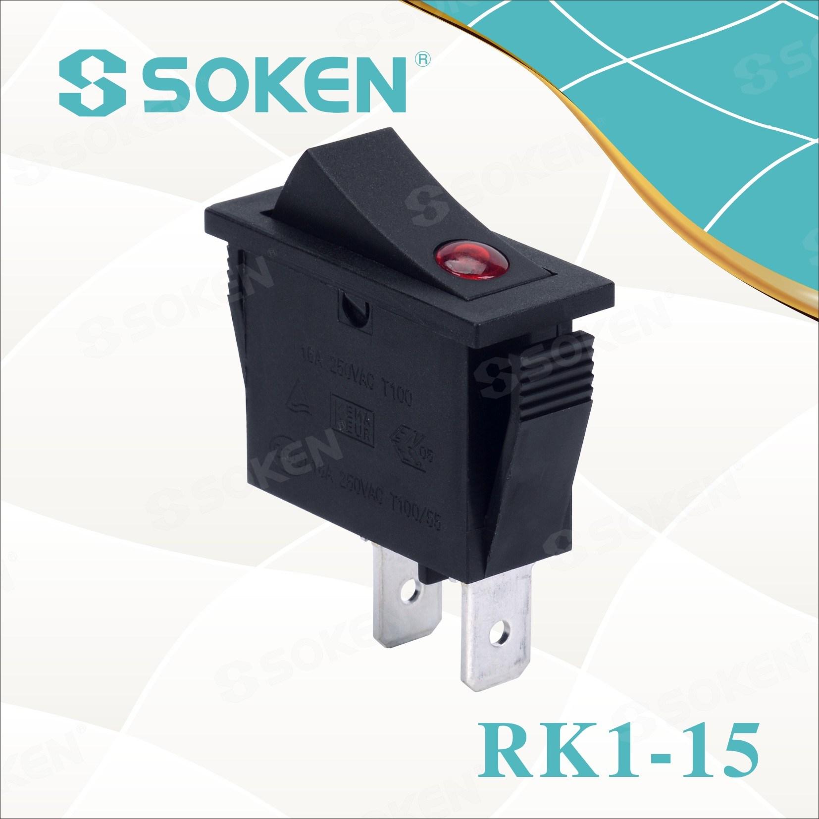 Soken Rk1-15 1X1n Lens on off Rocker Switch