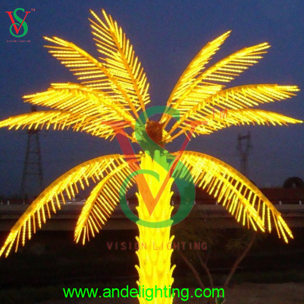 christmas LED Tree Light Lighted Palm Tree for Street Decoration