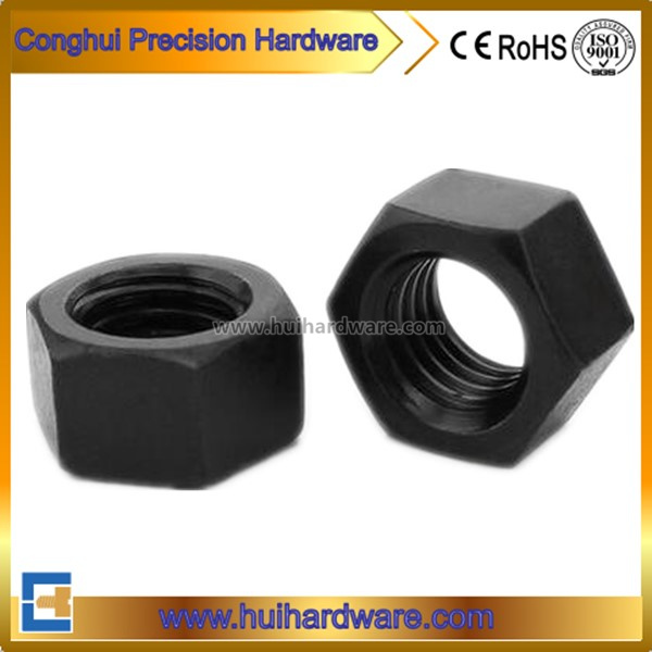 Carbon Steel Black Hex Nuts DIN 934 ISO 4032 ANSI B18.2.2