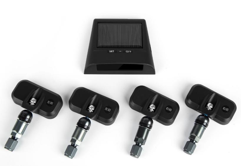 Universal Wireless LCD Solar Power Tire Pressure Monitoring System Internal TPMS