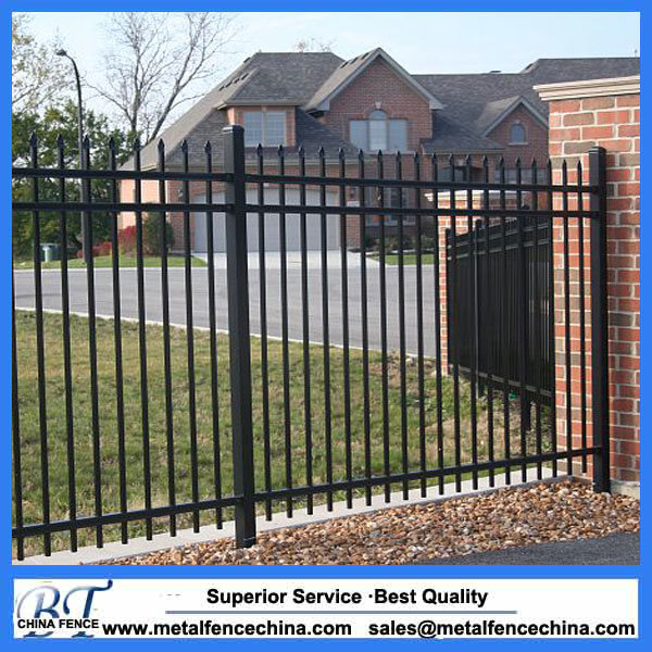 China 4FT 5FT 6FT 3 Rail Metal Garden Fencing   China Metal Garden Fencing, Garden  Fencing